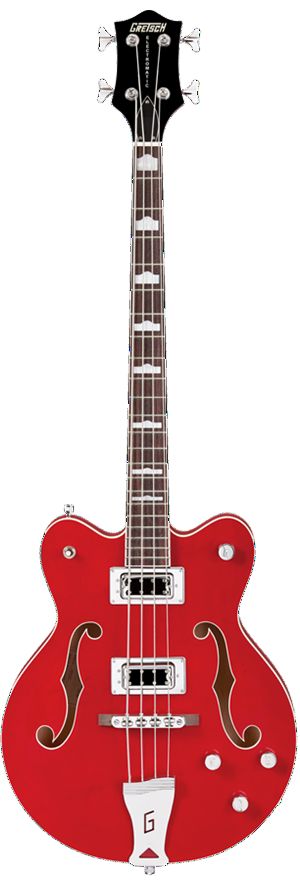 Gretsch G5442BDC Electromatic Hollow Body Bass in Red